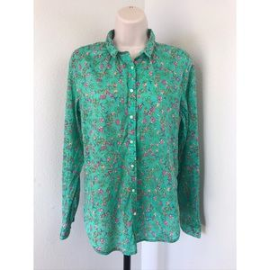 Anthropologie Tops - Anthropologie Holding Horses Floral Shirt